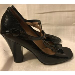 Jeffrey Campbell Patent Leather T-Strap Mary Janes